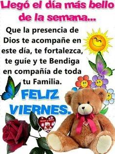 Imágenes de feliz viernes Dios te bendiga
