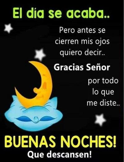 Buenas noches gracias por todo
