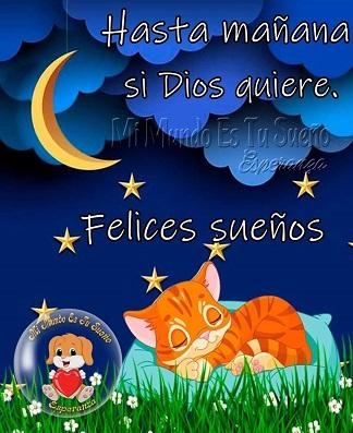 Hasta mañana dulces sueños