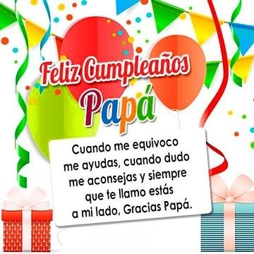 Que la Pases bonito Papá Feliz Cumpleaños