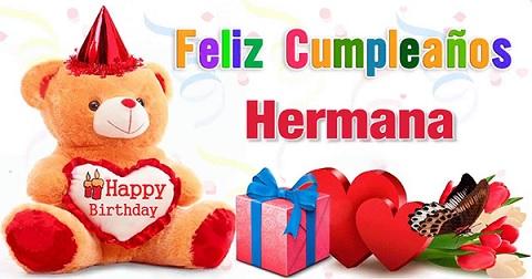 Feliz cumpleaños hermana Dios te bendiga