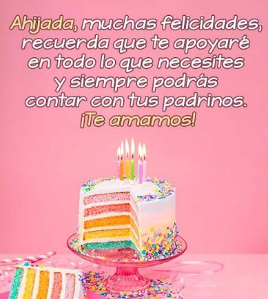 Que La Pases Bonito Ahijada Feliz Cumpleaños