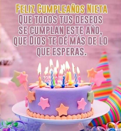 Que La Pases Bonito Nieta Feliz Cumpleaños