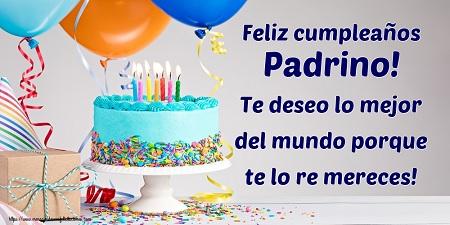 Feliz cumpleaños padrino Dios lo bendiga