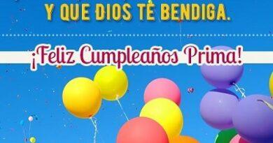 Que La Pases Bonito Prima Feliz Cumpleaños